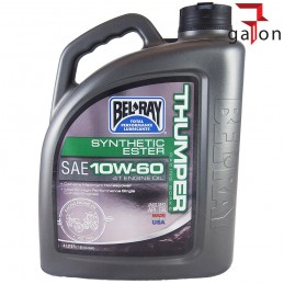 BEL-RAY THUMPER WORKS RACING SYNTHETIC ESTER 4T 10W60 4L