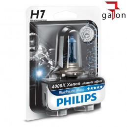 PHILIPS BlueVision MOTO H7 12V 55W PX26d XENON ULTIMATE EFFECT