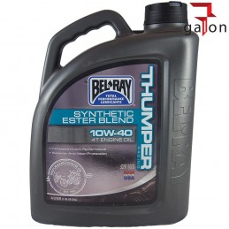 BEL-RAY THUMPER RACING SYNTHETIC ESTER BLEND 4T 10W40 4L