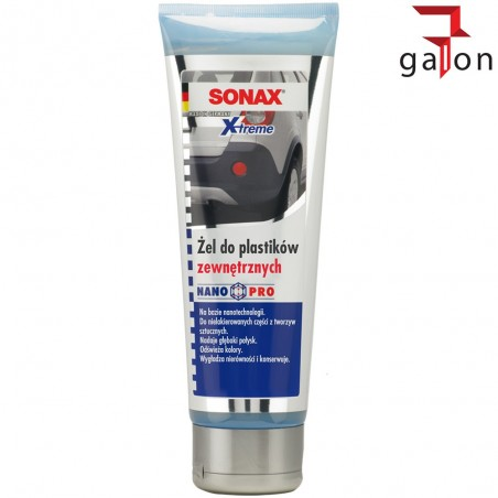 SONAX NANOPRO ŻEL DO PLASTIKÓW ZEWNĘTRZNYCH 250ML 210141