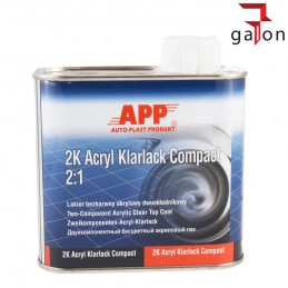 APP 2K ACRYL KLARLACK COMPACT 2:1 0,5L | Sklep Online Galonoleje.pl