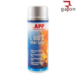 APP L800°C SILVER SPRAY 400ML lakier żaroodporny SREBRNY | Sklep Online Galonoleje.pl