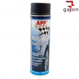 APP RALLY COLOR SPRAY 500ML LAKIER AKRYLOWY CZARNY MAT