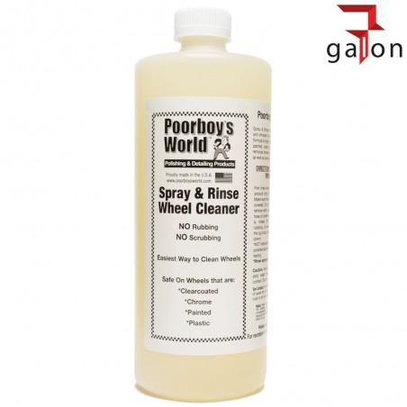 POORBOY'S WORLD SPRAY & RINSE WHEEL CLEAN 946ML