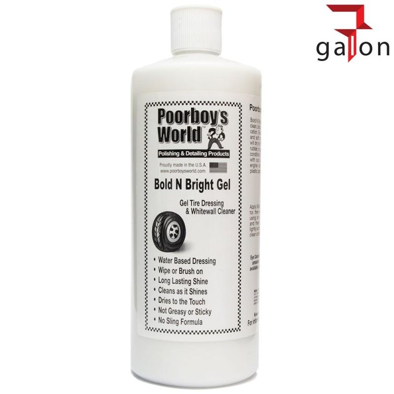POORBOY`S WORLD BOLD BRIGHT TIRE DRESSING GEL 946ML