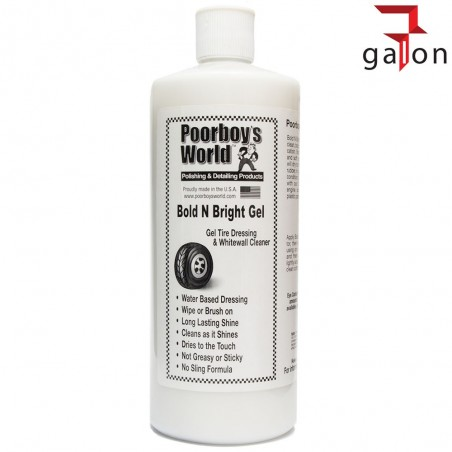 POORBOY'S WORLD BOLD BRIGHT TIRE DRESSING GEL 946ML