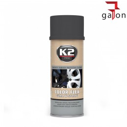 K2 COLOR FLEX- CZARNA GUMA SPRAY MAT 400ML -Sklep Online Galonoleje.pl