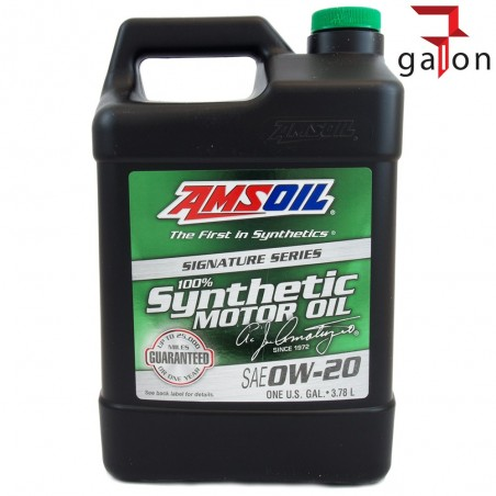 AMSOIL SIGNATURE SERIES 100% SYNTHETIC MOTOR OIL 0W20  3.78L ASM