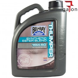 BEL-RAY THUMPER RACING SYNTHETIC ESTER BLEND 4T 15W50 4L