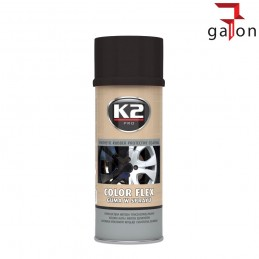 K2 COLOR FLEX- CZARNA GUMA SPRAY POŁYSK 400ML