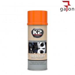 K2 COLOR FLEX- JASNO POMARAŃCZOWA GUMA SPRAY 400ML-Sklep Galonoleje.pl
