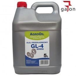 AGROOIL HIPOL GL4 80W90 5L - olej przekładniowy