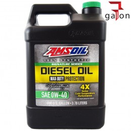 AMSOIL SIGNATURE SERIES DIESEL OIL MAX-DUTY PROTECTION 0W40 3,78L DZF1G
