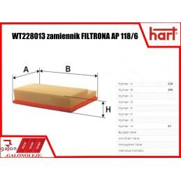 HART FILTR POWIETRZA 327 712 AP 118/6