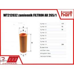HART FILTR POWIETRZA 327 661 AR 265/1