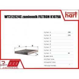 HART FILTR KABINOWY 338 160 K1079A węglowy