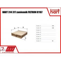 HART FILTR KABINOWY 344 317 K1167
