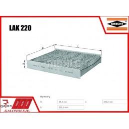 KNECHT FILTR KABINOWY WĘGLOWY LAK 293 zastępuje LAK220