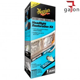 MEGUIARS PERFECT CLARITY 2-STEP HEADLIGHT NEW KIT G2970 - zestaw do renowacji reflektorów