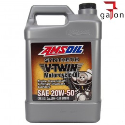 AMSOIL SYNTHETIC V-TWIN MOTORCYCLE OIL 20W50 3,784 MCV