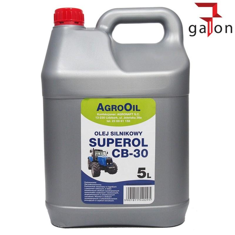 AGROOIL SUPEROL CB 30 5L - olej silnikowy | Sklep Online Galonoleje.pl