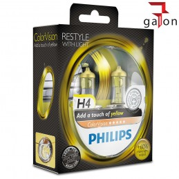 PHILIPS COLORVISION H4 12V ŻÓŁTE