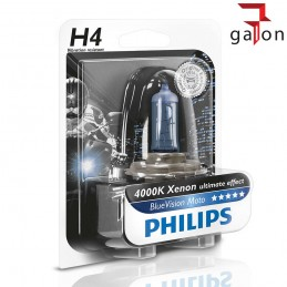 PHILIPS BlueVision MOTO H4 12V 60/55W XENON ULTIMATE EFFECT