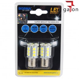 BOSMA LED SMDx24 12V BAY15d WHITE 3246 2szt.