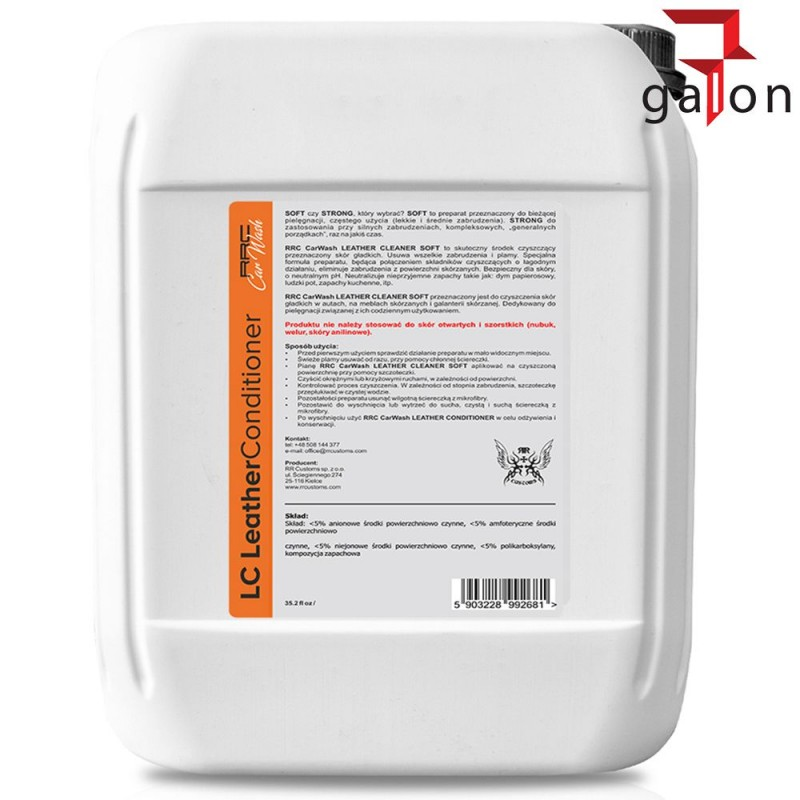 RRC LEATHER CONDITIONER 5L - Sklep Online Galonoleje.pl