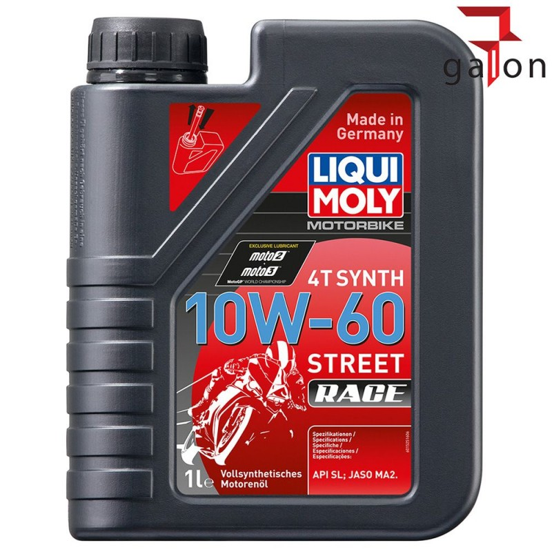 LIQUI MOLY MOTORBIKE 4T SYNTH 10W60 STREET RACE 1L 1525  Galonoleje.pl