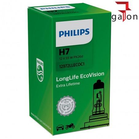 PHILIPS LongLife EcoVision H7 12V 55W PX26d 1szt
