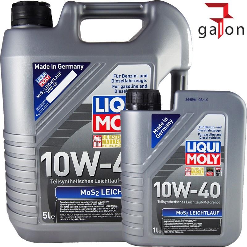 LIQUI MOLY MoS2 SUPER LEICHTLAUF 10W40 5L+GRATIS1L 2184P|Galonoleje.pl
