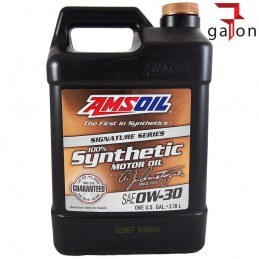 AMSOIL SIGNATURE SERIES 100% SYNTHETIC MOTOR OIL 0W30 3.784L AZO